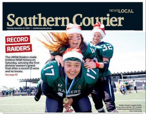 Southern Courier Front Page